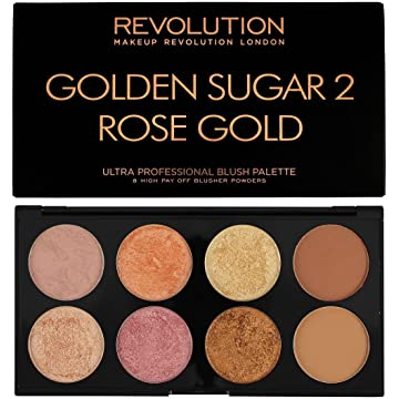 Makeup Revolution Palette, Blush Bronze Highlight, Golden Sugar 2 Rose Gold