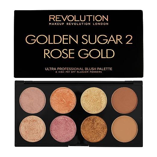"""2 opinioni per Makeup Revolution- Palette di fard, con varie tonalità, """"Golden Sugar 2 Rose"""