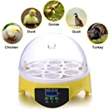 Currens 7 Egg Incubator,Digital Mini Incubators for Hatching Chicken Turkey Quail Fertilized Eggs