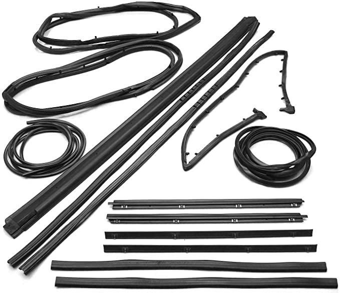 New Front Windshield Seal Kit For Jeep Wrangler 1987-1995