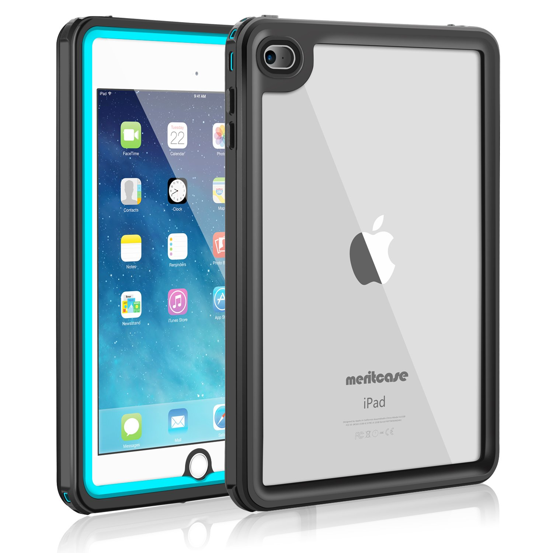 iPad Mini 4防水ケース、meritcase ip68防水フルボディショック、防塵耐衝撃ケースwith Touch ID for Ipad Mini 4 (7.9インチ) のみ ブルー iPad4 B002  ブルー B07BFQ1MB9