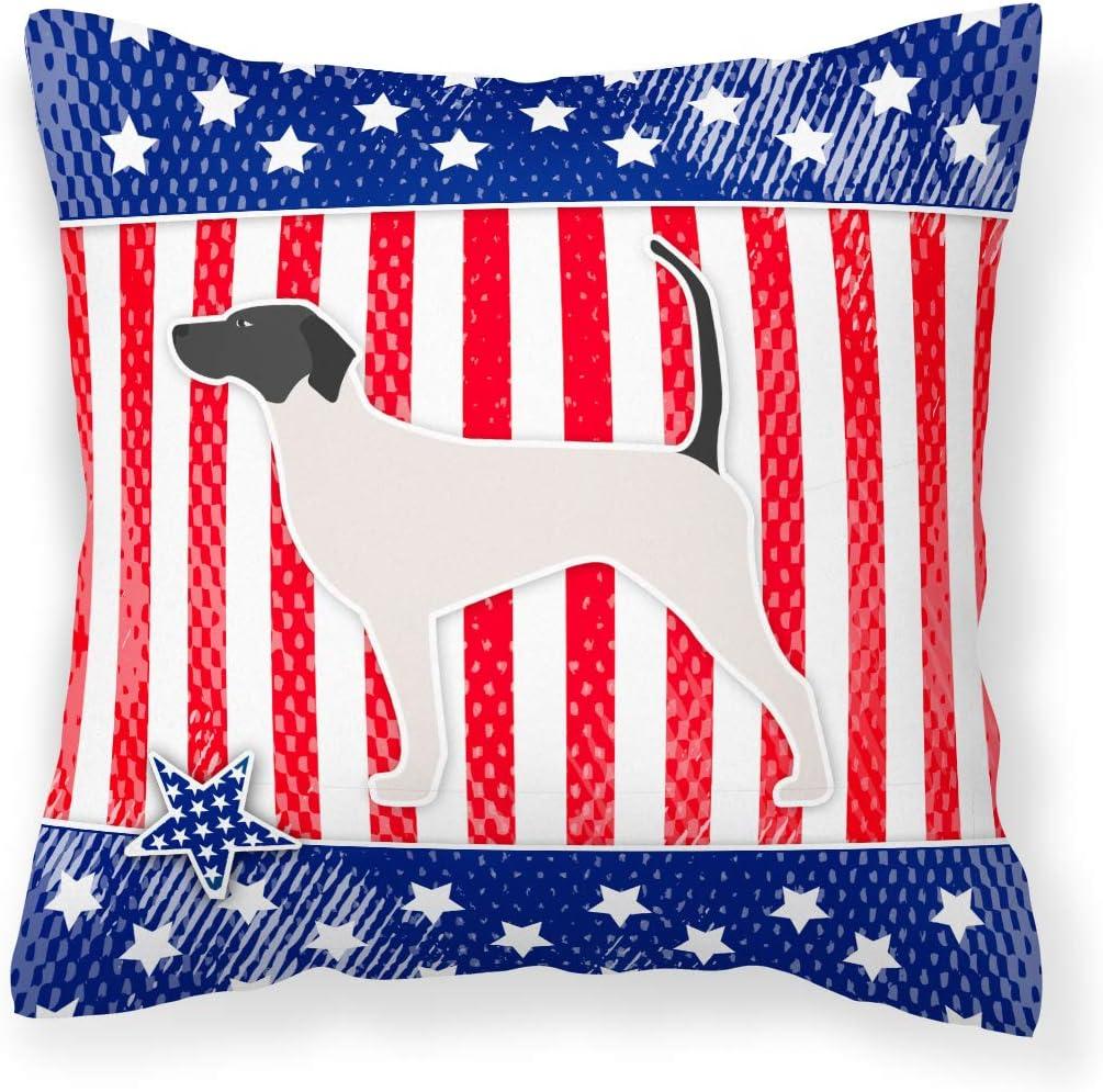 Amazon Com Caroline S Treasures Bb3295pw1818 Usa Patriotic English Pointer Fabric Decorative Pillow 18h X18w Multicolor Garden Outdoor