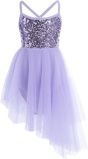 Freebily Maillot Vestido de Ballet Danza Vestido Leotardo Body ...