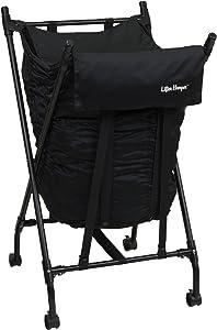 Household Essentials LH1002 Lifter Hamper Spring Loaded Laundry Bag - Black