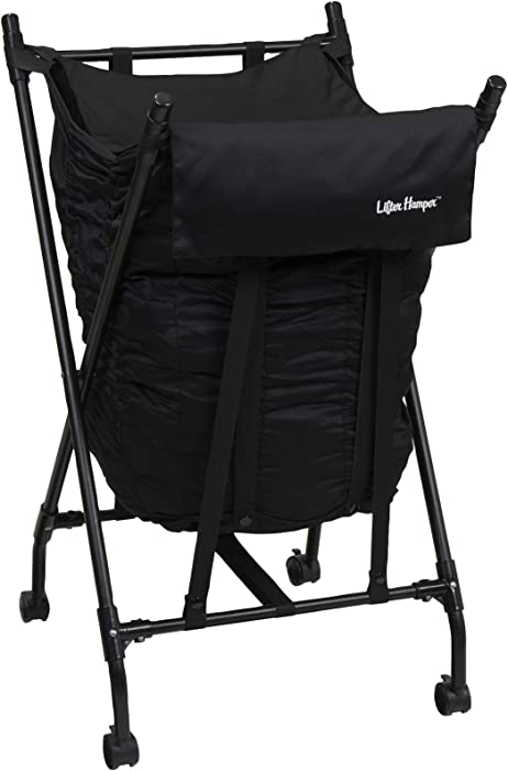 Household Essentials LH1002 Lifter Hamper Spring Loaded Laundry Bag - Black