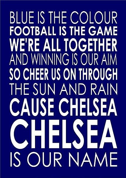 Chelsea - Blue Is The Colour- A4 29cm x 21 cm -Unframed