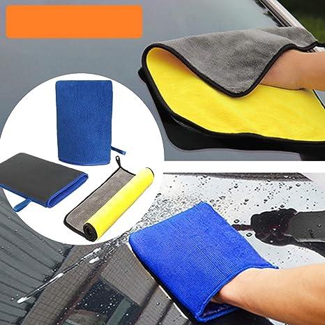 Bangminda Auto Waschhandschuhe Reinigungsknete Mikrofaser Handschuhe Handschu Mit Feiner Tonerde Beschichtung Für Autowäsche Waschen Und Vorbereiten Der Oberfläche Vor Dem Verzieren Küche Haushalt