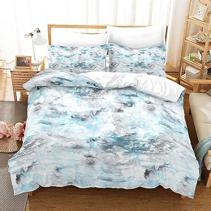 Amazon.com: Marble Bedding Set Marble Duvet Cover Set King Size ...