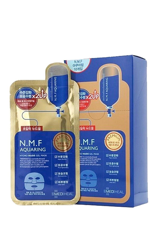 MEDIHEAL N.M.F AQUARING Hyrdo Nude Gel Mask 10 Sheets (GOLD) TONYMOLY