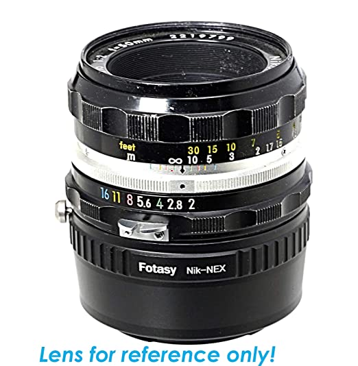 Fotasy Nikon Lens to Sony E-Mount Adapter, Adapter for Sony E Mount Camera  Nikon Lens, Infinity Focus, Compatible with Sony NEX-5T NEX-6 NEX-7 a3000