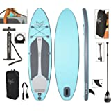 """Vilano Navigator 10' 6"""" Inflatable SUP Stand Up Paddle Board Package"""