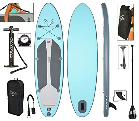 Vilano Navigator 10 6 Inflatable SUP Stand Up Paddle Board Package