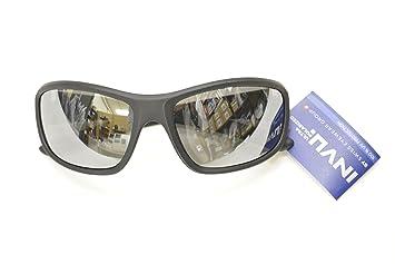 Gafas de sol polarizadas INVU a 2501 G negro espejo Silver elástica indeformabile Lentes 100%