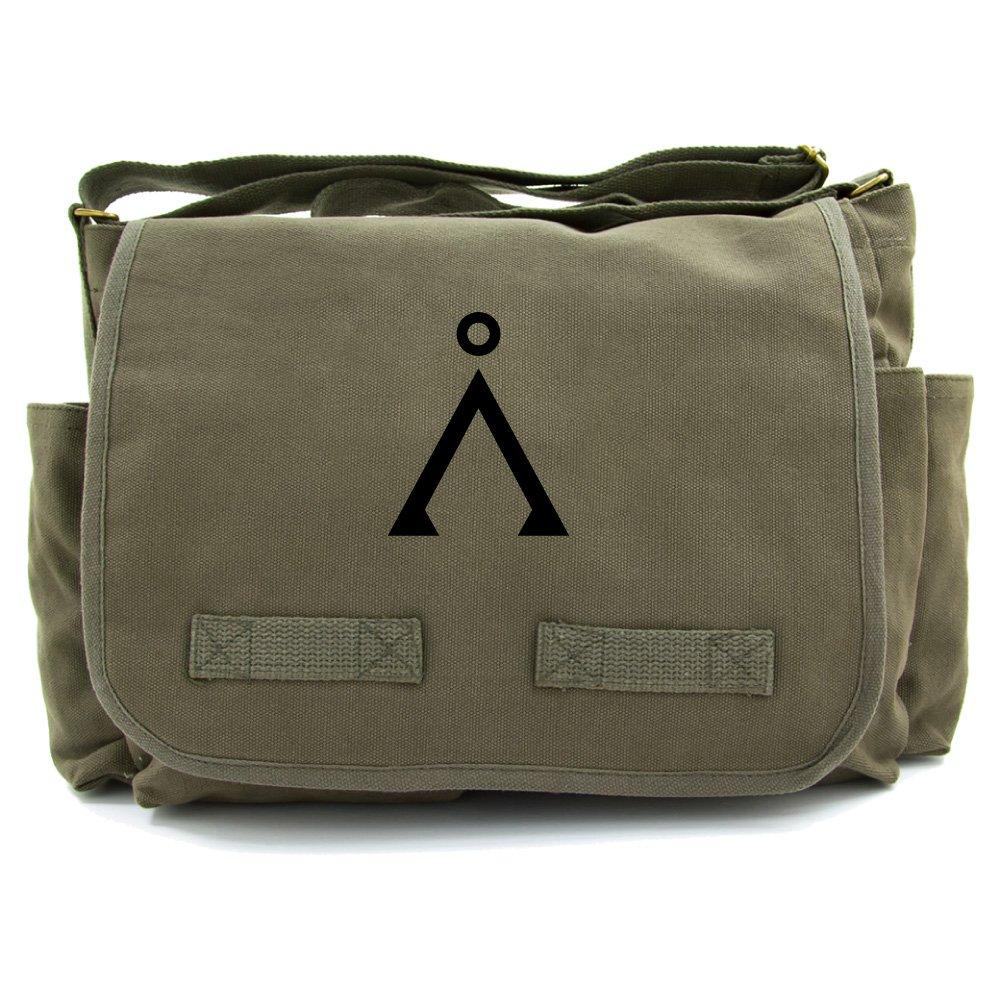 Stargate Earth Symbol Heavyweight Canvas Messenger Shoulder Bag