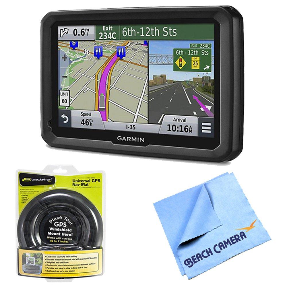 Garmin dezl 570LMT 5'' Truck GPS Navigation w Lifetime Map Traffic Portable Dash Mount Bundle