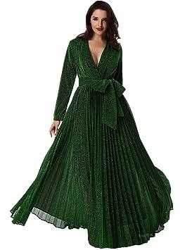 Adyce mujeres Verde bamdage maxi vestido vestido de fiesta de invierno 2018 malla de manga larga