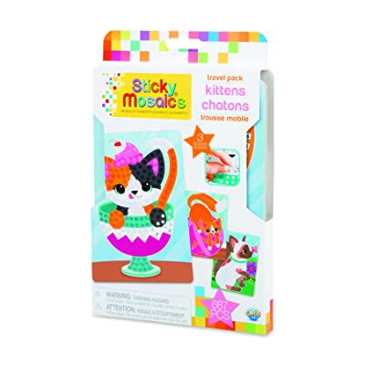 Orb 51075 Sticky Mosaics Travel Pack Kittens, Multi: Toys & Games
