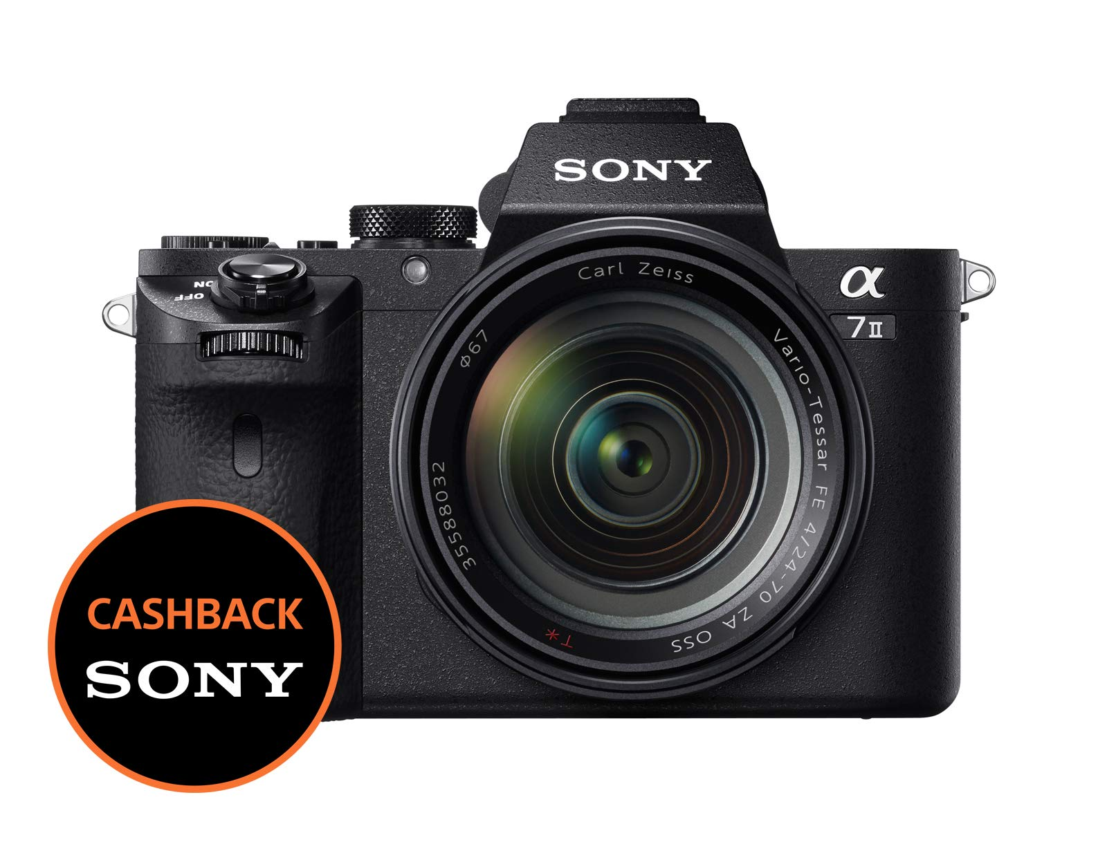 Sony ILCE-7M2Alpha 7II Fotocamera Digitale (24,3Mega Pixel, Display LCD da 7,62cm (3pollici), Full HD Video Funzione (xavc S, AVCHD), sensore CMOS Exmor Full-Frame) product image