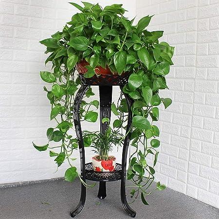 GYF Estanteria for Macetas Metálico Soporte Plantas for Interior for Exterior Maceteros Porta Macetas 2 Niveles Escalera Estantería Decorativas De Plantas Flores for Negro/Blanco 40X83CM: Amazon.es: Hogar