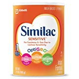 Amazon Price History for:Similac Sensitive Infant Formula with Iron, Powder, One Month Supply, 34.9 ounces (Pack of 3)