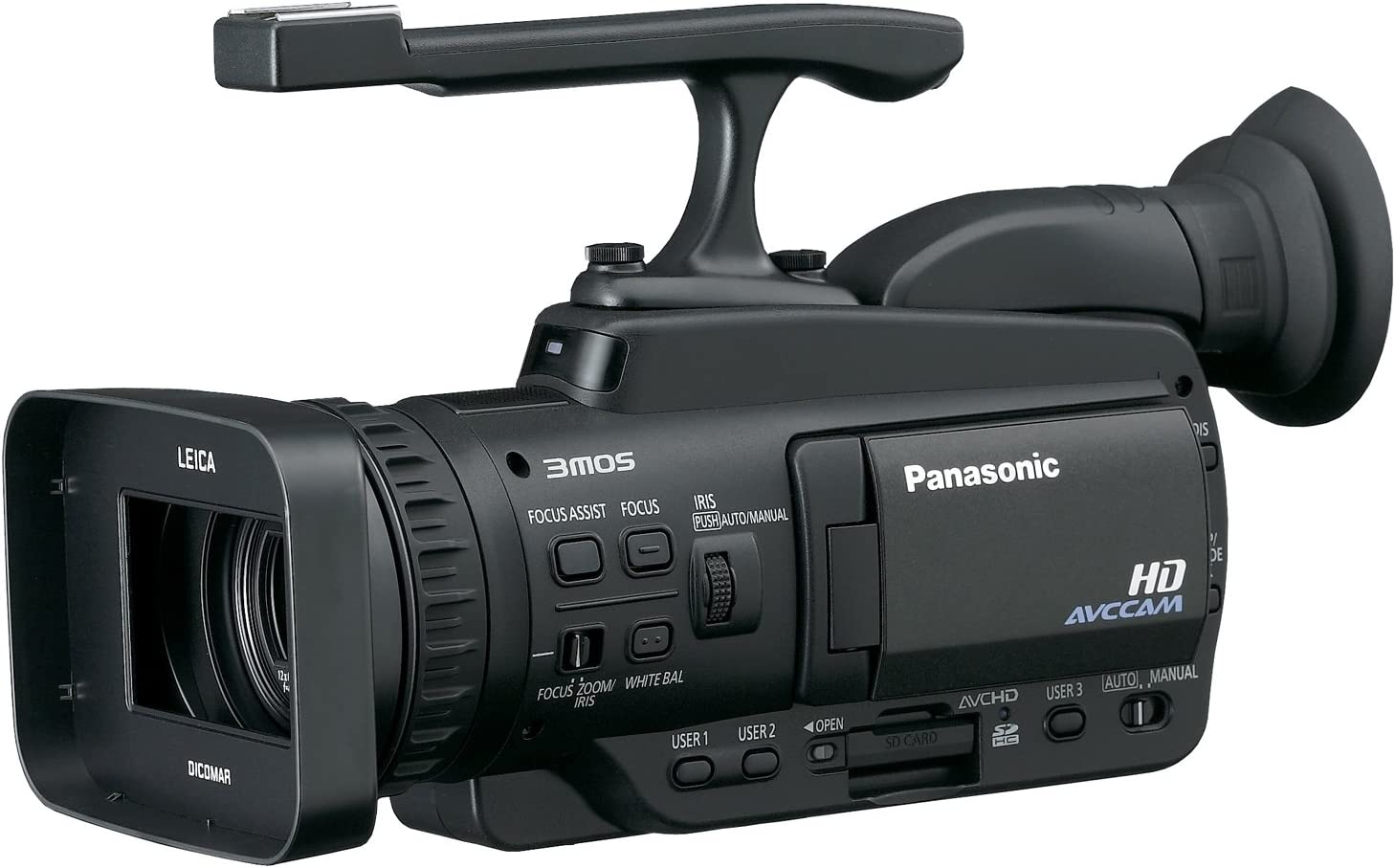 Camcorders and Pro Video Cameras Panasonic AG-HMC40 Camcorder External Microphone XM-AD2 Dual Channel XLR-Mini Audio Adapter for DSLR/'s with SDC-26 Case