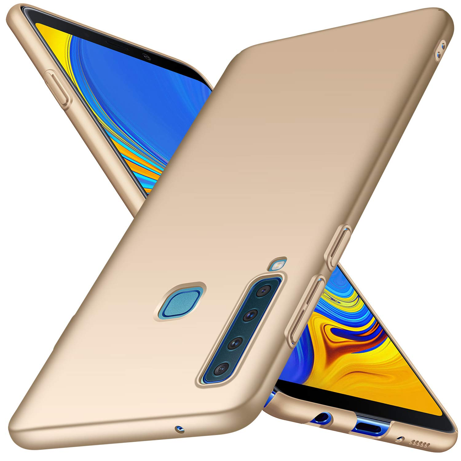 Samsung Galaxy A9 2018 Case, Almiao [Ultra-Thin] Minimalist Slim Protective Phone Case Back Cover for Galaxy A9 2018 (Smooth Gold)