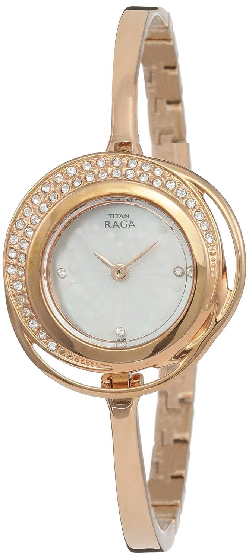 e945c0dc9b155 Titan Raga Analog Mother of Pearl Dial Women's Watch-NK95003WM01