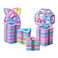 HOMOFY 40PCS Castle Magnetic Blocks - Learning & Development Magnetic Tiles Building...