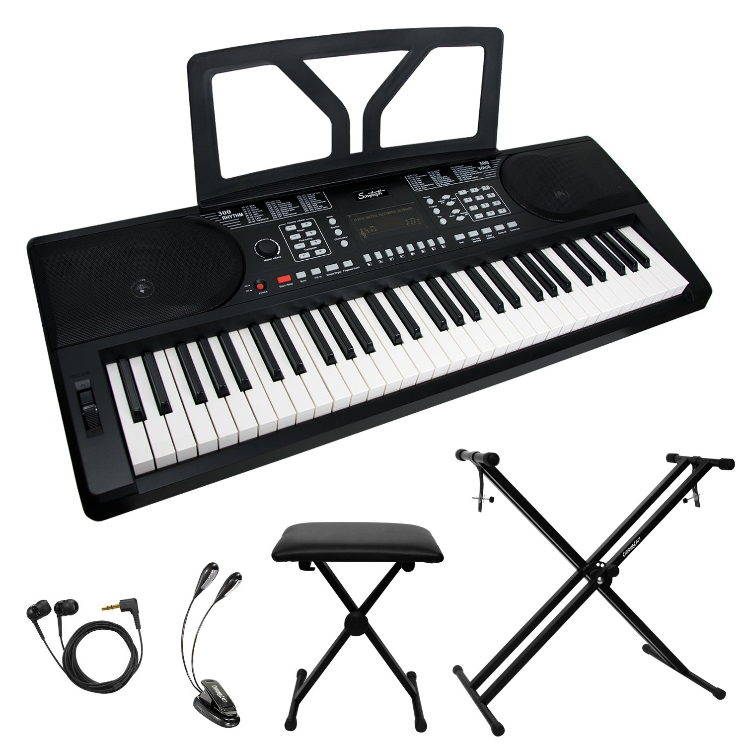 Sawtooth ST-PKB-61-KIT-1 61-Key Portable Keyboard with Accessories