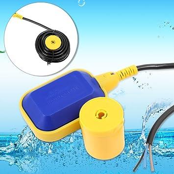 Cable de 5 m interruptor de flotador regulador de nivel de agua para depósito de Bomba: Amazon.es: Jardín