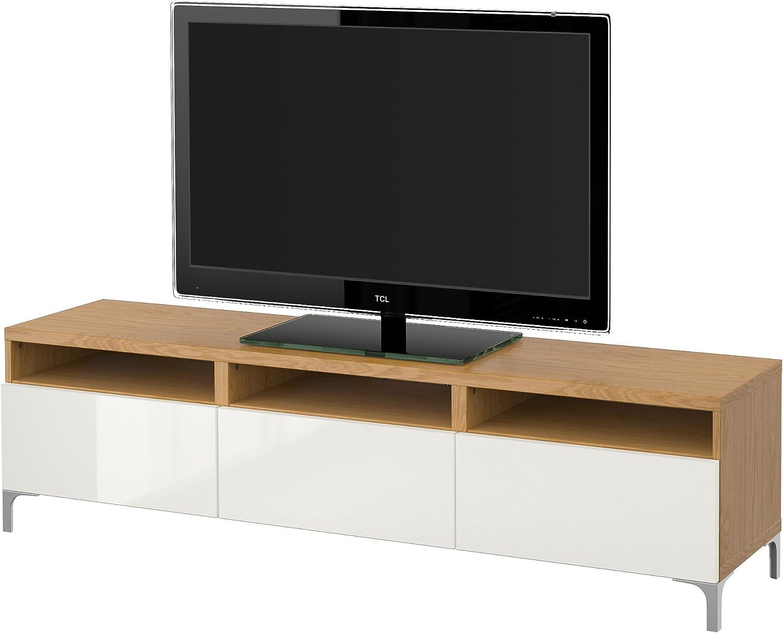 IKEA BESTA - Mueble TV con cajones efecto Roble / selsviken alto ...