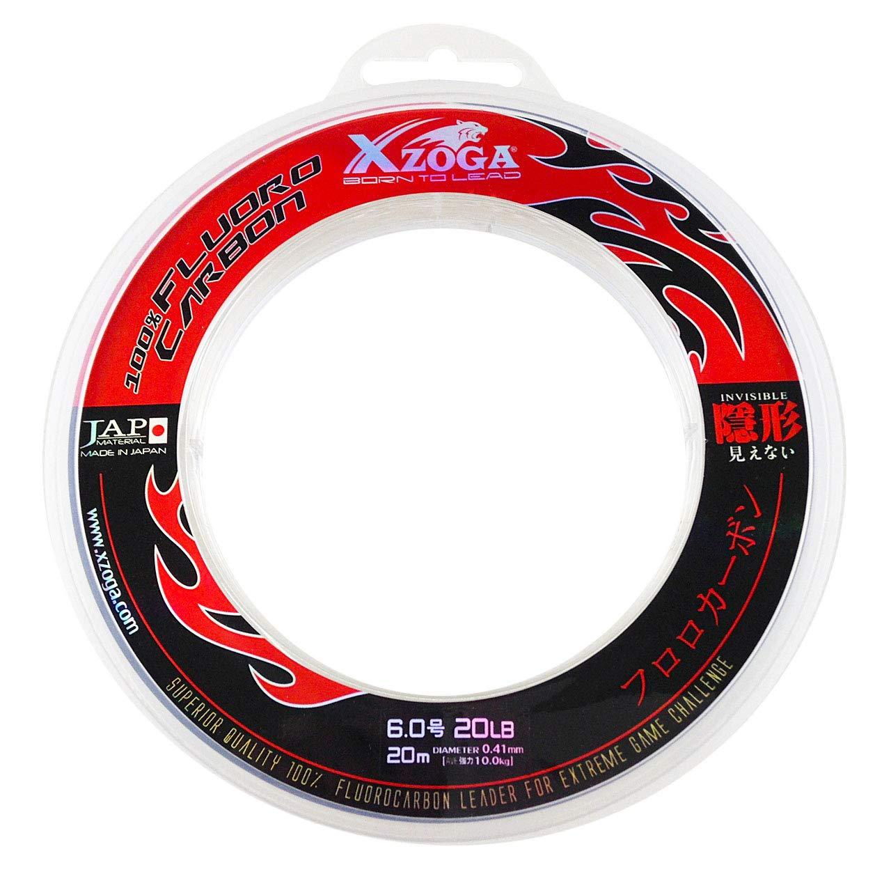 良質  Xzoga Line 100% Fluorocarbon Invisible Invisible Fishing Leader (1) Line 9.1kg/20M (1) B01CS99OGG, 家具のマルケン:65c8d24e --- ballyshannonshow.com
