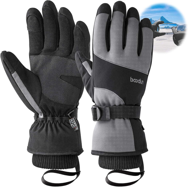 Waterproof Thinsulate Winter Warm Snowboard Snow Touchscreen Gloves for Men /& Women Unigear Ski Gloves