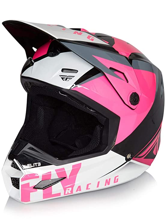 Amazon.es: Fly Racing Casco Mx 2019 Elite Vigilant Rosado-Negro (M, Rosado)