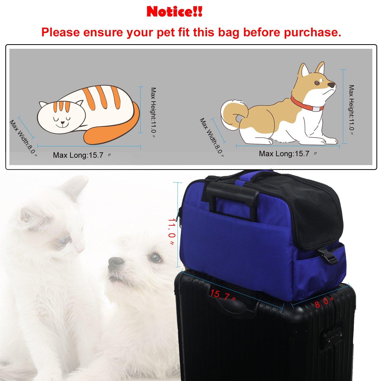 Orionstar Airline - Bolso de transporte para mascotas de cara suave, con bolsillo y almohadilla extraíble para la parte inferior de la silla de paseo, ...