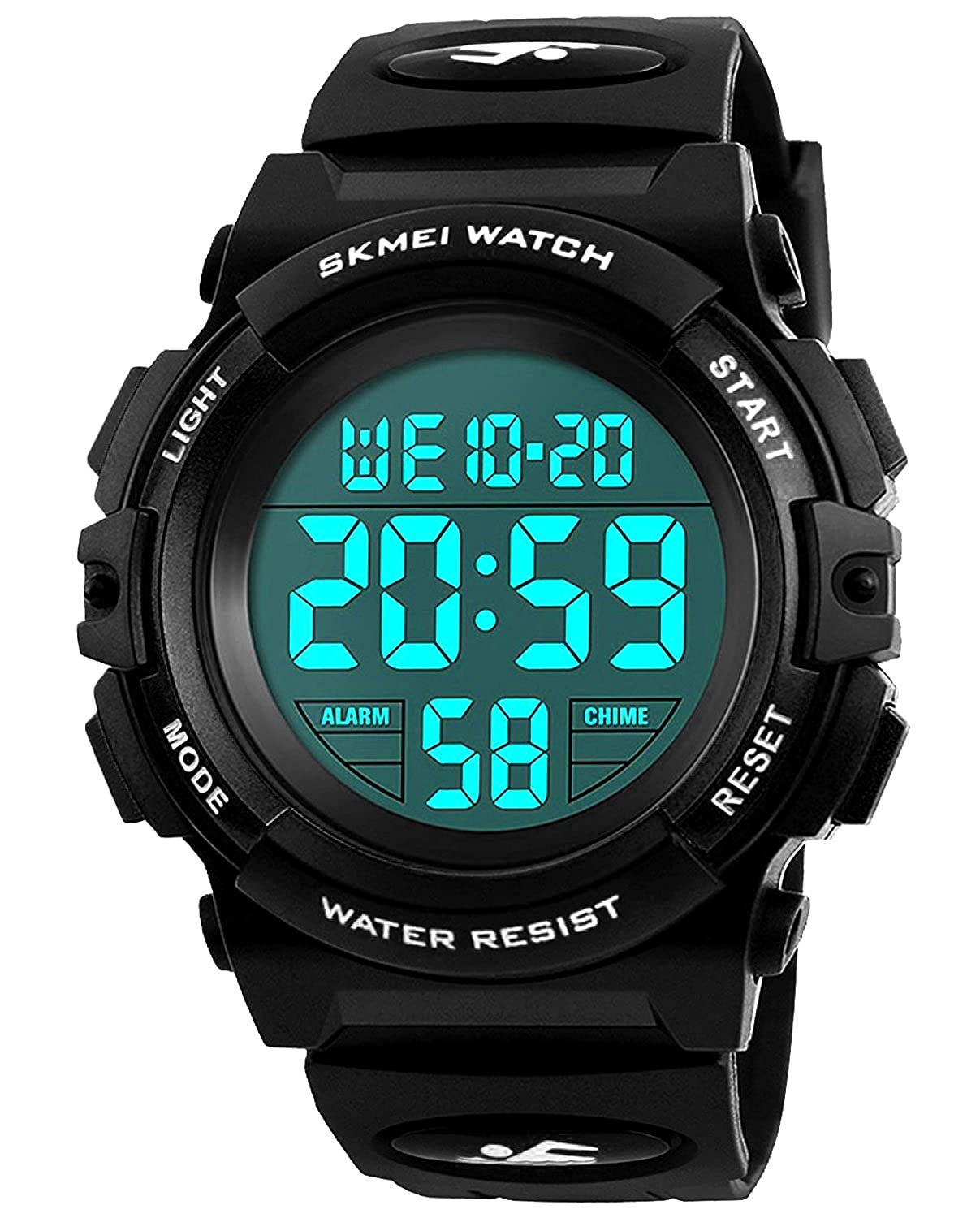 Kids Digital Watches for Boys - Waterproof Sports Watch with Alarm/Timer,  Black Childrens Outdoor Electronic Sport Digital Watches for Teenages Boys
