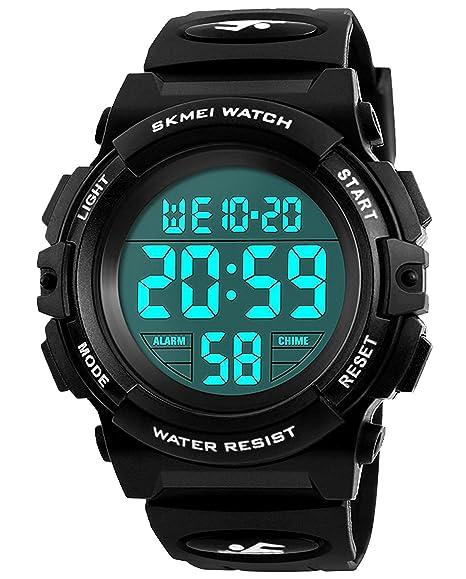 Niños Digital Relojes para niños - impermeable de los deportes reloj con alarma/temporizador,