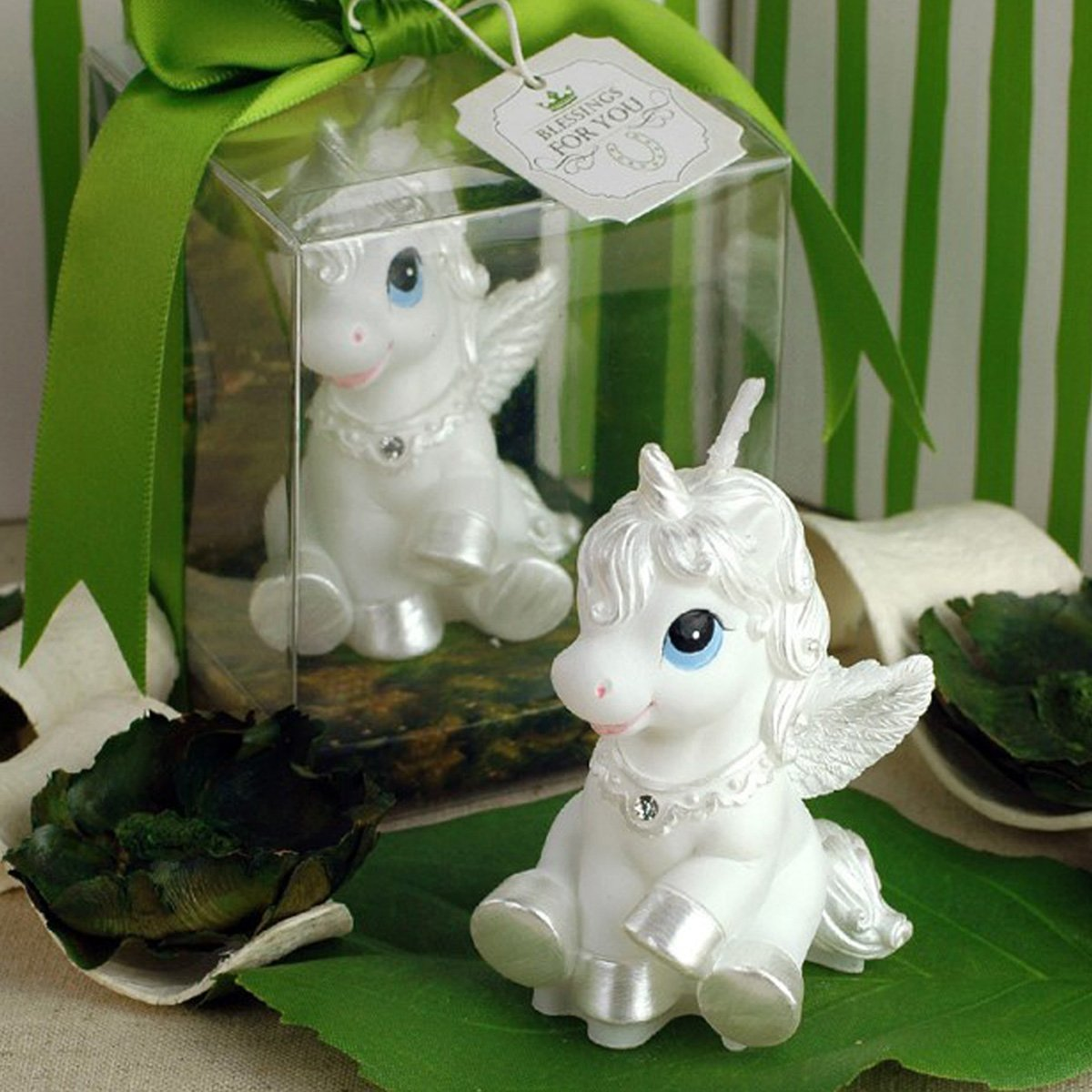 GranVela Creative Little Unicorn Pegasus Smokeless Candles for Birthday,Parties,Celebration and Home Decoration by Granvela