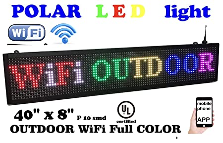 Amazon.com: Señal de color WIFI RGB de 40 x 8 pulgadas de ...