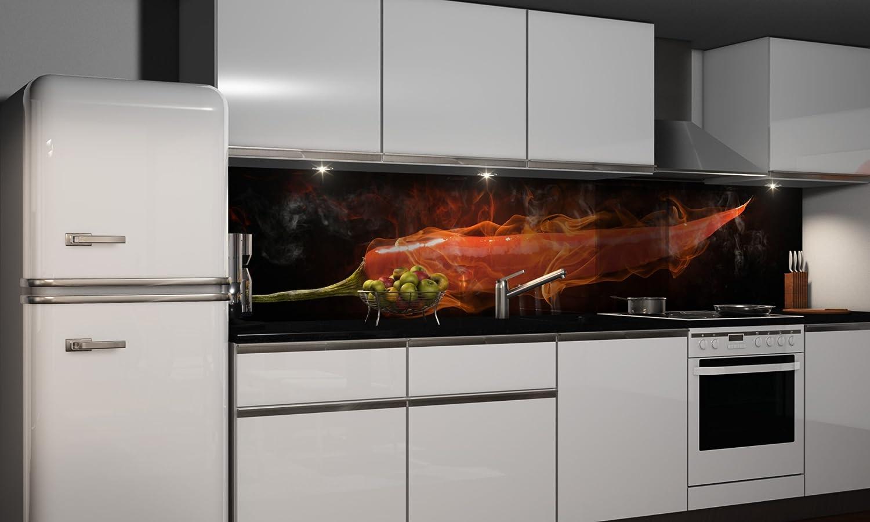 Küchenrückwand Folie selbstklebend   Heißer Chili   Klebefolie in ...