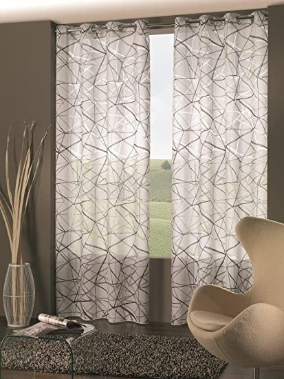 Tende Color Tortora.Home Collection Astratto Tenda Poliestere Tortora 140x280 Cm