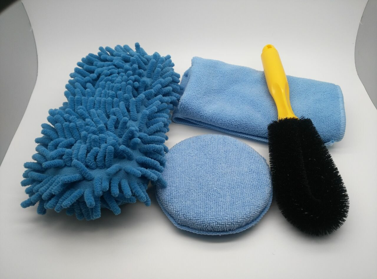MICROFIBER CHENILLE DETAILING SPONGE – MICROFIBER TERRY CLOTH – MICROFIBER POLISH WAXING PAD – CAR TIRE RIM BRUSH FOR CAR WASH, CAR INTERIOR, HOME,OFFICE. Stage-Price