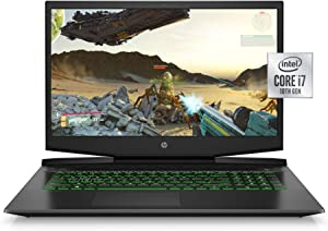 HP Pavilion Gaming Laptop 17-inch, Intel Core i7, NVIDIA GeForce GTX 1660 Ti with Max-Q, 16 GB RAM, 256 GB SSD, Windows 10 Home (17-cd1030nr, Shadow Black)