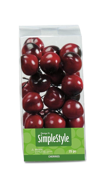 FloraCraft SimpleStyle 25-Piece Mini Decorative Fruit, Cherry RS9807/8/3