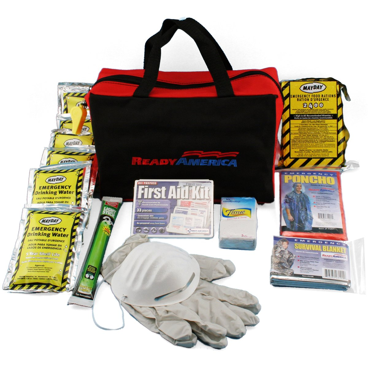 Ready America 70080 Emergency Kit, 1-Person 3-Day Bag by Ready America