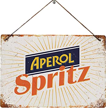 /replica vintage metal Wall Sign Retro bar pub Mancave cocktail estivo Aperol spritz/ 20x14cm STICKY PADS