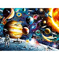 SooFam 1000 Piece Space Jigsaw Puzzles DIY Adult Kids Outer Space Astronaut Puzzles, Cosmic Galaxy Grown up Space Jigsaw…