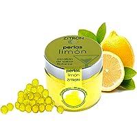 Perlas limón para cóctel. Fruta concentrada en perlas