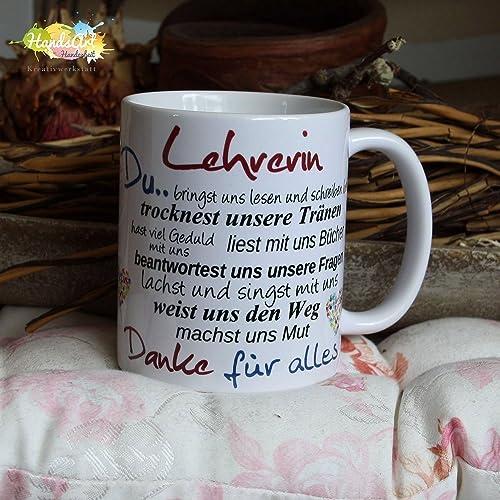 Kaffeebecher Tasse Lehrerin Schule Weihnachten