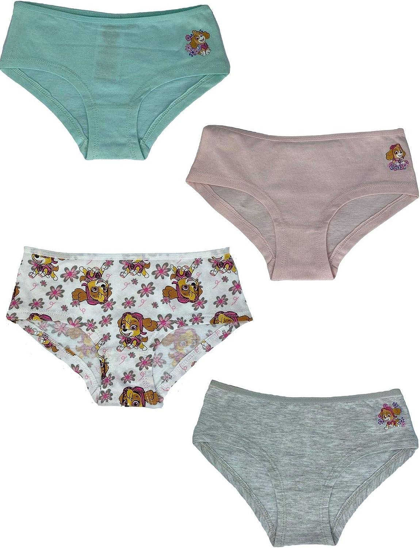 Unterw/äsche f/ür M/ädchen mit neuen Motiven von Skye Panties PAW PATROL Unterhosen /Öko Tex Unterhosen im 4er Set
